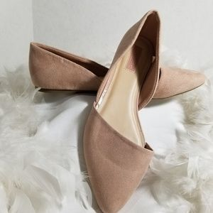 Seychelles Pink Blush Suede Flats Womens Size 8.5W